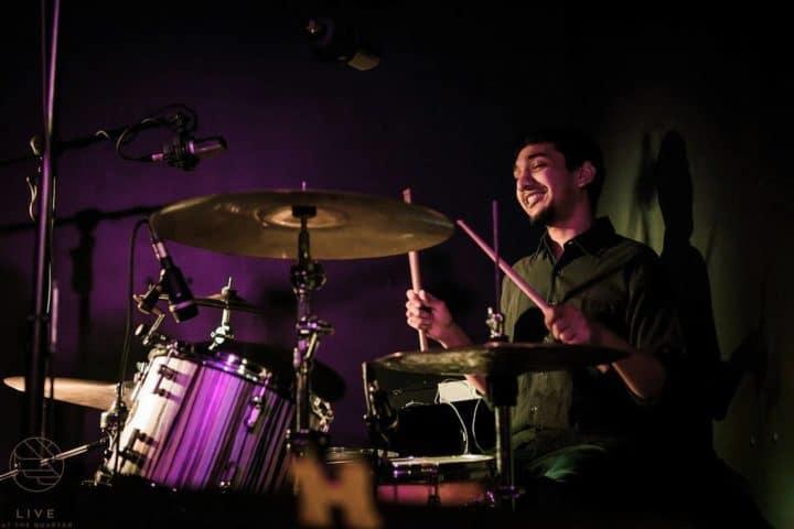 The Koniac Net drummer Karun at a gig